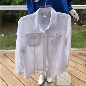 Dress Barn Woman's Button Down Blouse with Pockets